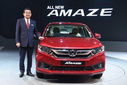 Honda Ra Mắt Honda Amaze Giá Chưa Đến 200tr Tại Ấn Độ